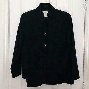 Wool skirt suit petites, EUC